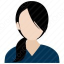 Simple Office Woman icon